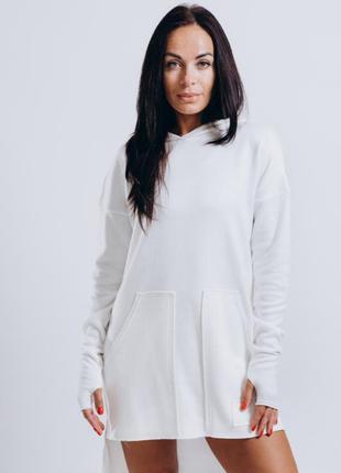 Белое платье , платье туника, туника в спортивном стиле
