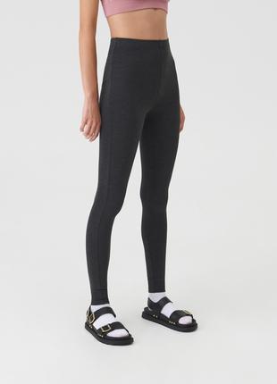 Новые облегающие темно-серые штаны леггинсы лосины графит мокрый асфальт xxs xs s m l xl xxl
