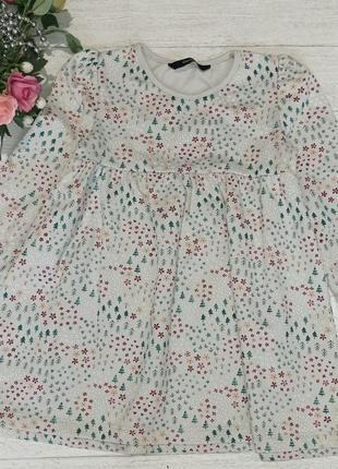 Платье на микрофлисе 2-3года 92-98рост george