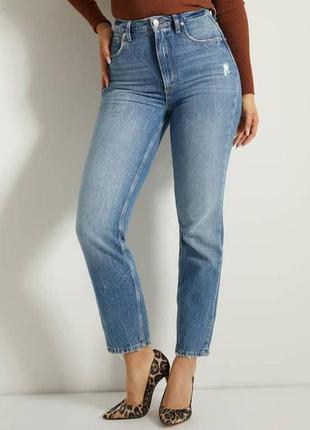 Голубые джинсы мом denim co
