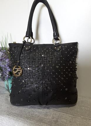 Бомбическая сумка из натуральной кожи.