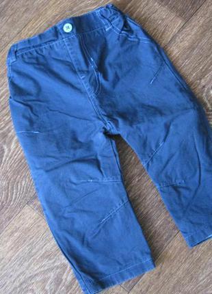 Котоновые штаники, джинсы на подкладке h&m, размер 74-80 см