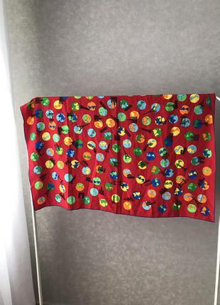 Огромный шёлковый платок,размер 97*97 см