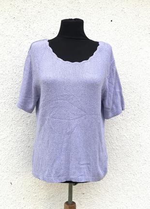 Шикарная лавандовая кофточка футболка база на осень