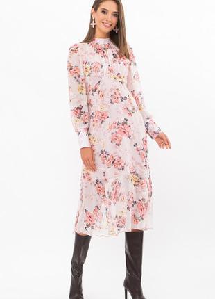Красивое,нежное шифоновое платье в цветочный принт 🌼