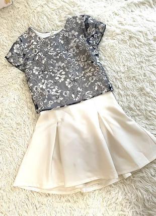 Платье с прозрачным топом