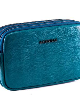 Молодежная женская сумочка-клатч из натуральной кожи