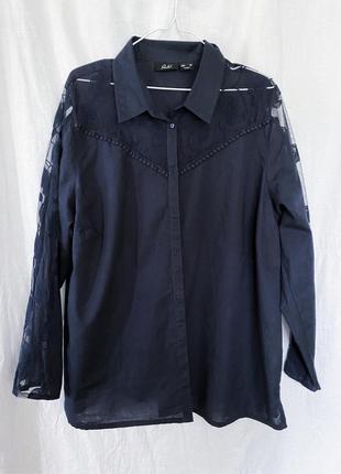 Хлопковая рубашка с кружевом