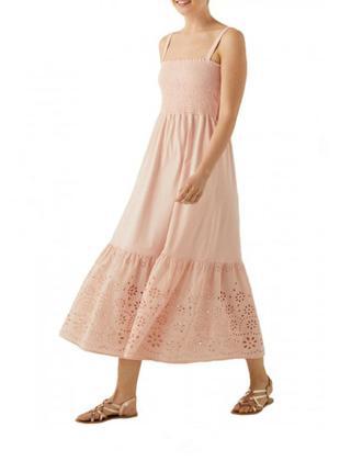 Хлопковое длинное платье в винтажном стиле