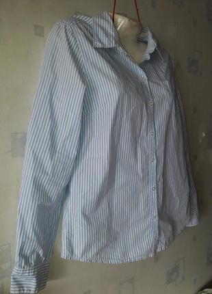 Рубашка в полоску h&m р-р евро40