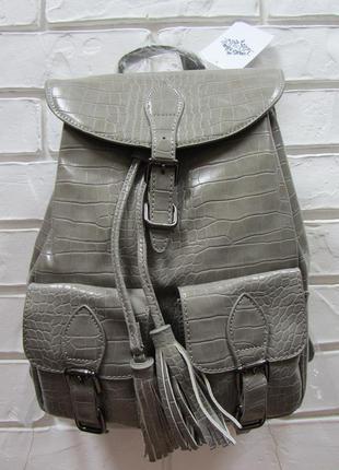 Новый серо-оливковый рюкзак с бирками