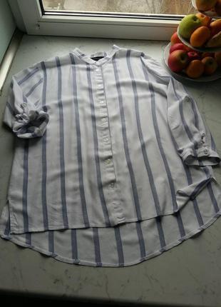 Стильная вискозная рубашка батал в стиле оверсайз atmosphere 16 {44} l-xxl размер