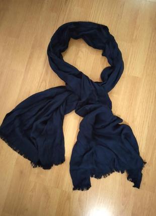 Палантин, шарф, синий, вискоза индия