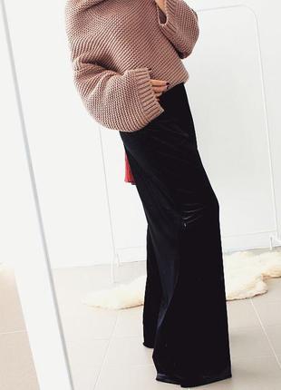 Шикарні брюки-палаццо з бархату, вигляд на мільйон!