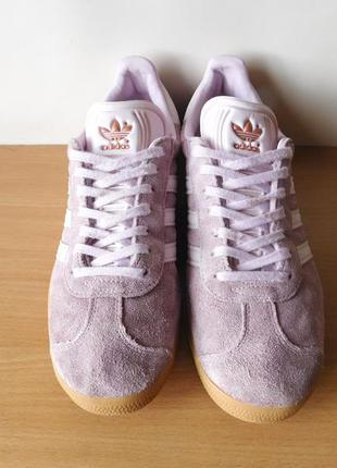Классные кожаные кроссовки adidas gazelle 38,5 р. стелька 24,7 см