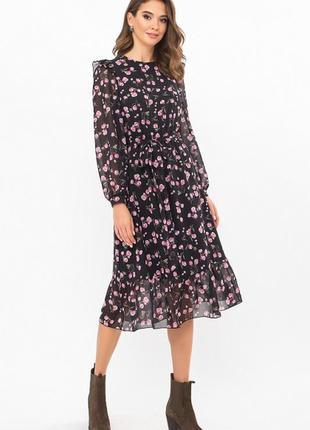 Привлекательное шифоновое платье-миди🌼