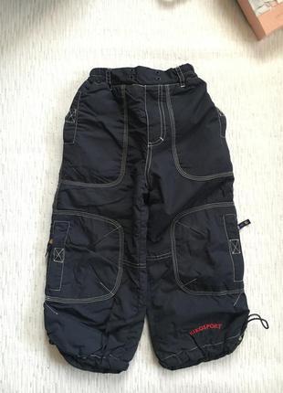 Зимние штаны kiko , дутые штаны на зиму , 98 рост . 3 года