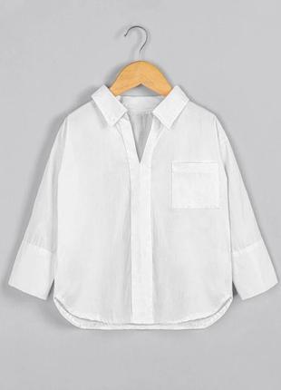 Белая блуза для девочки