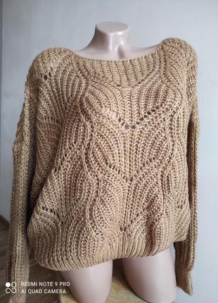 Красивый свитер адурной вязки