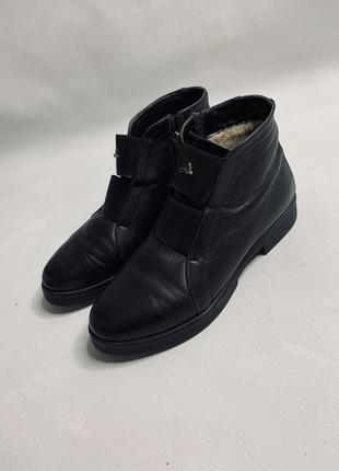 Зимние ботинки натуральная кожа овчина