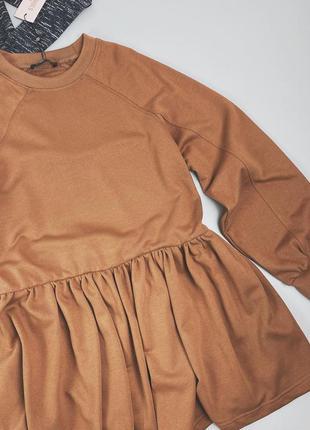Платье-свитшот с объемными рукавами missguided