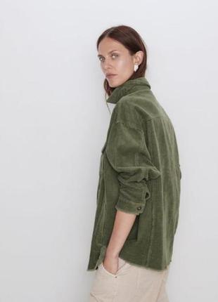 Вильветовый рубашка пиджак жакет мятный большой размер классный