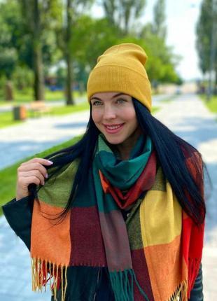 Комплект шапка і шарф кашемір