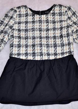 Твидовая блуза, рубашка, кофточка zara