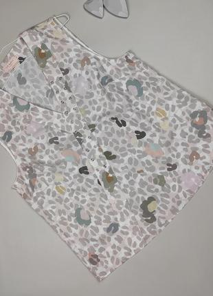 Блуза топ легкая оригинальная в принт ted baker uk 12-14