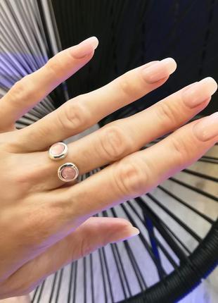 Серебристое регулируемое кольцо