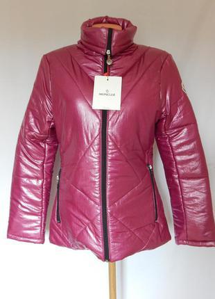 Шикарная демисезонная куртка, пуховик s-m moncler