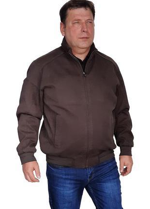 Осенняя мужская куртка пилот большого размера из натуральной ткани