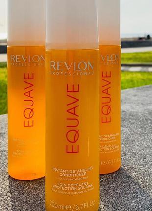Revlon professional equave sun protection detangling conditioner кондиционер для защиты от солнца.