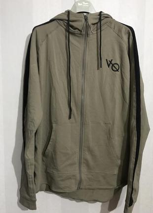 Фирменная хлопковая трикотажная куртка олимпийка