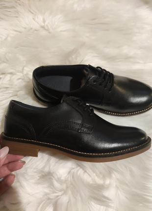 Туфли лоферы туфлі черевики лофери zara кожа