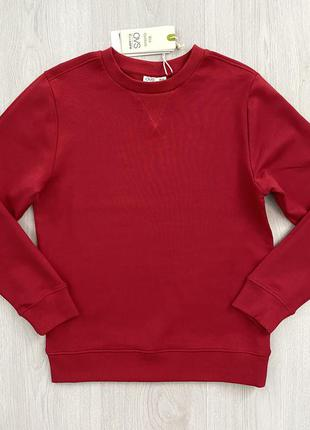Красный подростковый свитшот кофта толстовка для мальчика ovs италия