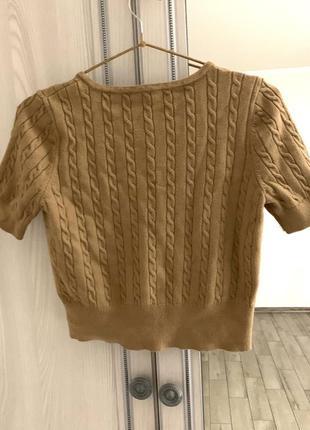 Топ-блуза с коротким рукавом