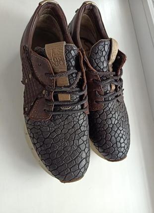 As 98 airstep женские коричневые кожаные кроссовки /размер 37
