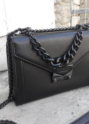 Женская сумка guess сумка кроссбоди чёрная