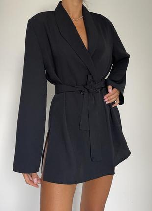 Двубортный пиджак жакет с поясом винтаж в стиле zara mango cos
