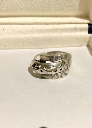 Кольцо поясок серебро 925 пробы