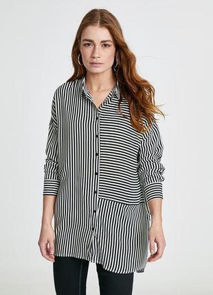 Туника рубашка полосатая