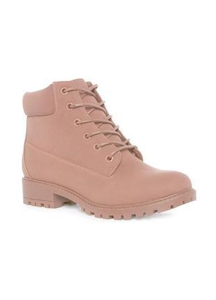 Брендовые женские пудровые ботинки primark/оригинал.