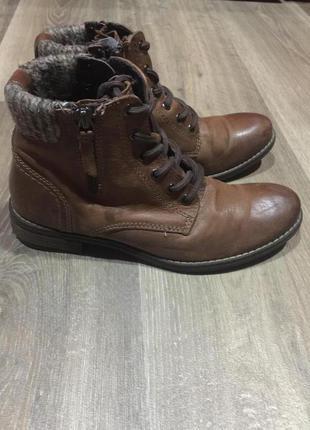 Кожаные  деми ботинки on spirit,  на низком ходу 38 р