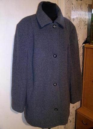 Шерстяное 80%,демисезонное,элегантное пальто,большого размера,wollmark,германия