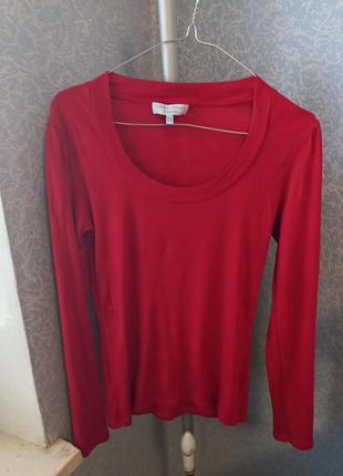 Лонгслив красный. бренд laura ashley. размер 12. 50%хлопок, 50%-модал.