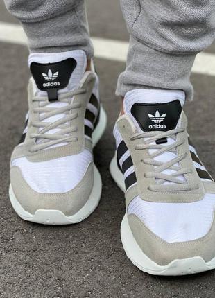 Мужские серые с черным  замшевые осенние кроссовки adidas 🆕демисезоные адидас