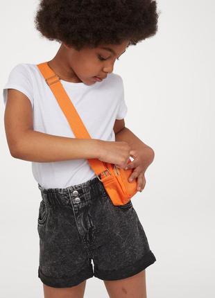 Джинсовые шорты paper bag в школу