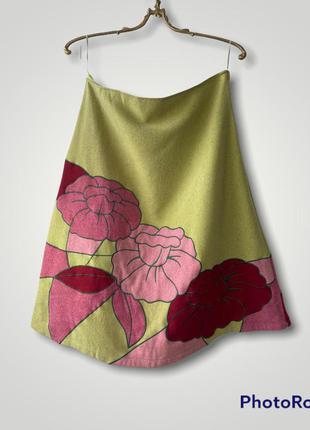 40% шерсть. тёплая юбка на осень весну в стиле prada