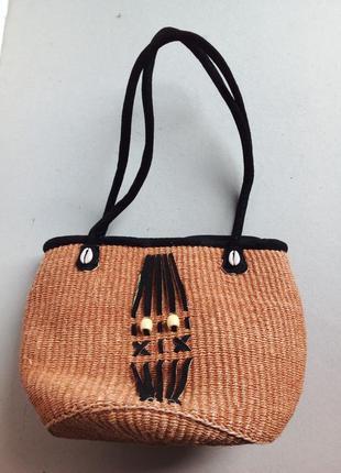 Натуральная этно  сумка пучной работы кения